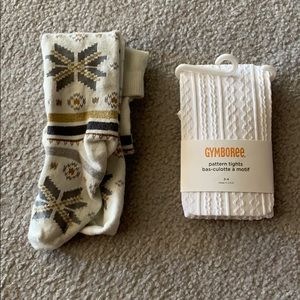 Gymboree Little Girl Tights, set of 2, Size 3-4